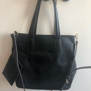 Sole Society black leather bag